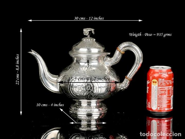 Antigüedades: Extraordinario Juego de Café Antiguo en Plata Maciza. 7,8 kilos. España, Principios Siglo XX - Foto 53 - 177785830