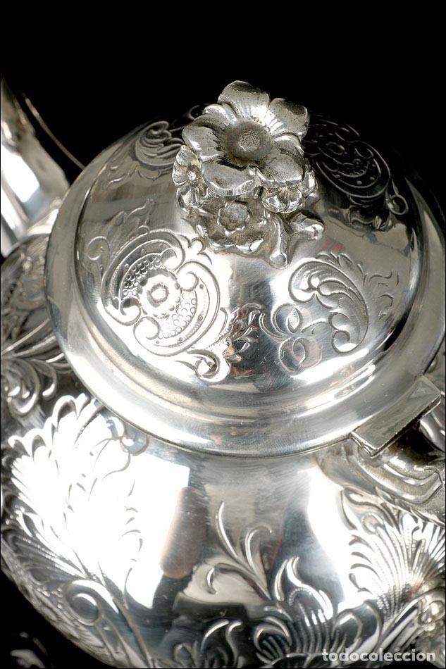 Antigüedades: Extraordinario Juego de Café Antiguo en Plata Maciza. 7,8 kilos. España, Principios Siglo XX - Foto 57 - 177785830