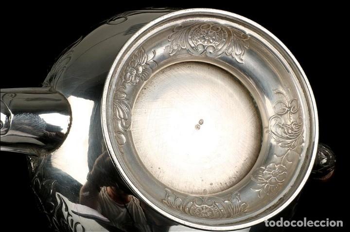 Antigüedades: Extraordinario Juego de Café Antiguo en Plata Maciza. 7,8 kilos. España, Principios Siglo XX - Foto 59 - 177785830