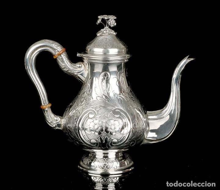 Antigüedades: Extraordinario Juego de Café Antiguo en Plata Maciza. 7,8 kilos. España, Principios Siglo XX - Foto 65 - 177785830