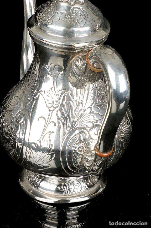 Antigüedades: Extraordinario Juego de Café Antiguo en Plata Maciza. 7,8 kilos. España, Principios Siglo XX - Foto 67 - 177785830