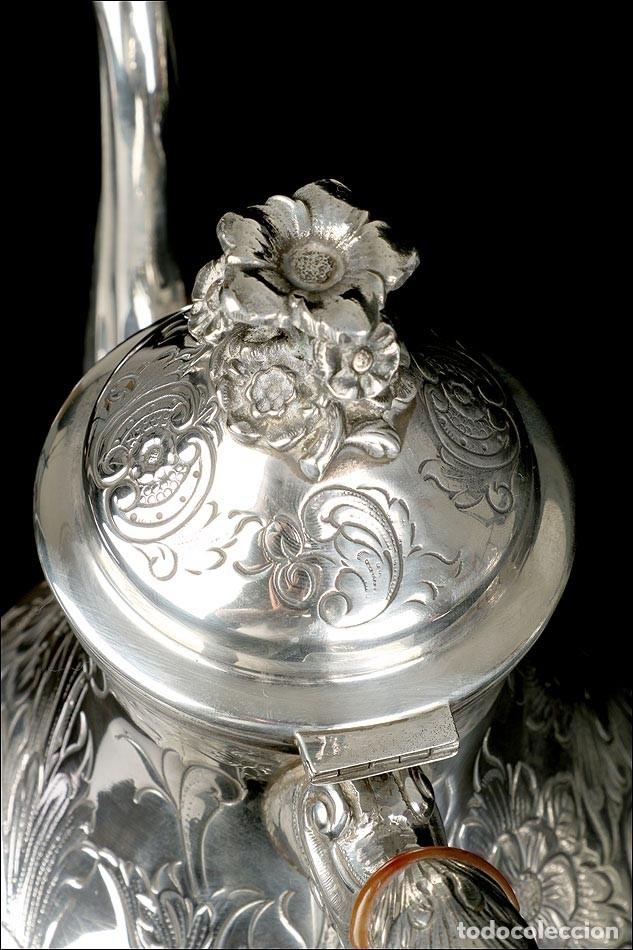 Antigüedades: Extraordinario Juego de Café Antiguo en Plata Maciza. 7,8 kilos. España, Principios Siglo XX - Foto 68 - 177785830