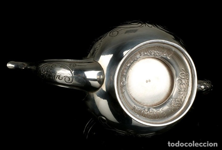 Antigüedades: Extraordinario Juego de Café Antiguo en Plata Maciza. 7,8 kilos. España, Principios Siglo XX - Foto 70 - 177785830