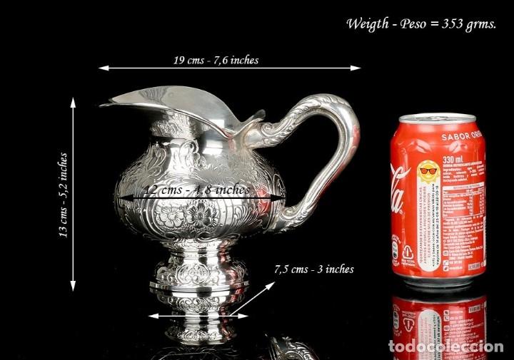 Antigüedades: Extraordinario Juego de Café Antiguo en Plata Maciza. 7,8 kilos. España, Principios Siglo XX - Foto 74 - 177785830
