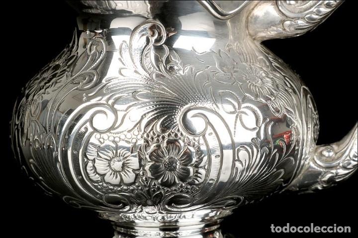 Antigüedades: Extraordinario Juego de Café Antiguo en Plata Maciza. 7,8 kilos. España, Principios Siglo XX - Foto 75 - 177785830