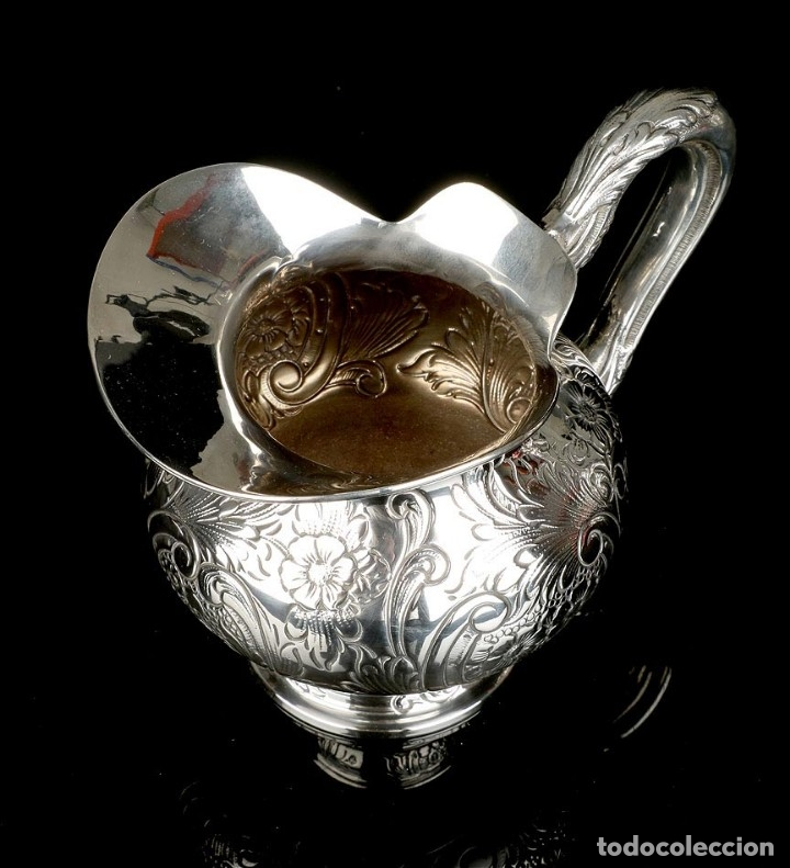 Antigüedades: Extraordinario Juego de Café Antiguo en Plata Maciza. 7,8 kilos. España, Principios Siglo XX - Foto 77 - 177785830