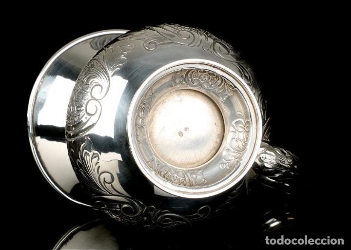 Antigüedades: Extraordinario Juego de Café Antiguo en Plata Maciza. 7,8 kilos. España, Principios Siglo XX - Foto 79 - 177785830