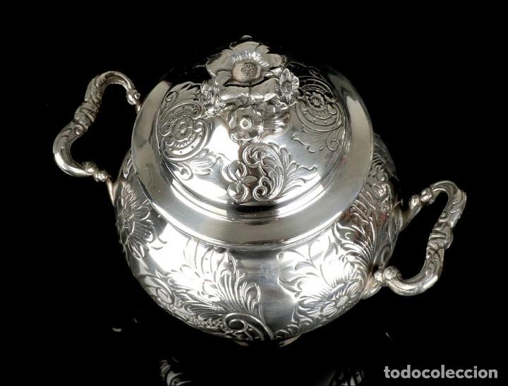 Antigüedades: Extraordinario Juego de Café Antiguo en Plata Maciza. 7,8 kilos. España, Principios Siglo XX - Foto 83 - 177785830