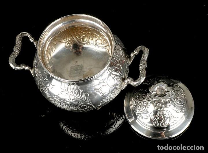 Antigüedades: Extraordinario Juego de Café Antiguo en Plata Maciza. 7,8 kilos. España, Principios Siglo XX - Foto 84 - 177785830