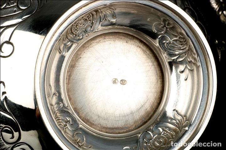 Antigüedades: Extraordinario Juego de Café Antiguo en Plata Maciza. 7,8 kilos. España, Principios Siglo XX - Foto 86 - 177785830