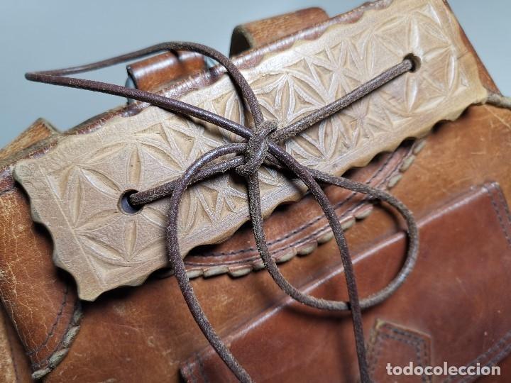 Antigüedades: zurrón o morral PASTOR. Arte pastoril.Etnografía.ORIGINAL AÑOS 50-60 PREPIRINEO LERIDANO-LERIDA - Foto 7 - 177785992