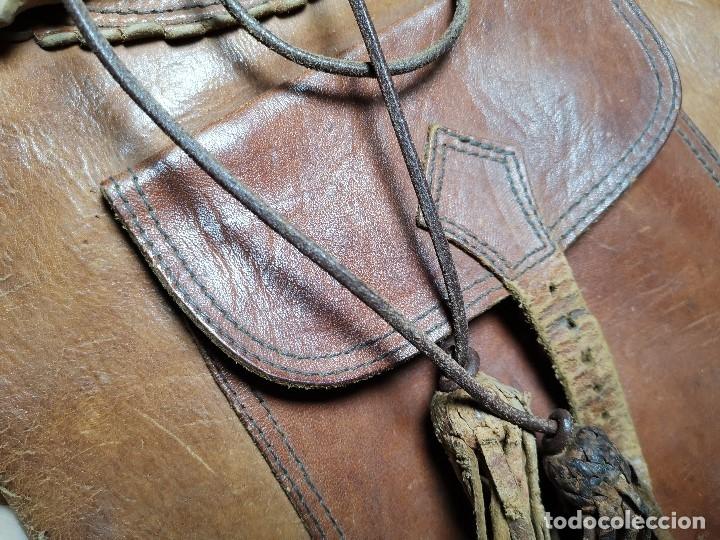 Antigüedades: zurrón o morral PASTOR. Arte pastoril.Etnografía.ORIGINAL AÑOS 50-60 PREPIRINEO LERIDANO-LERIDA - Foto 9 - 177785992