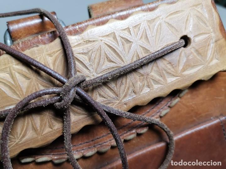 Antigüedades: zurrón o morral PASTOR. Arte pastoril.Etnografía.ORIGINAL AÑOS 50-60 PREPIRINEO LERIDANO-LERIDA - Foto 11 - 177785992
