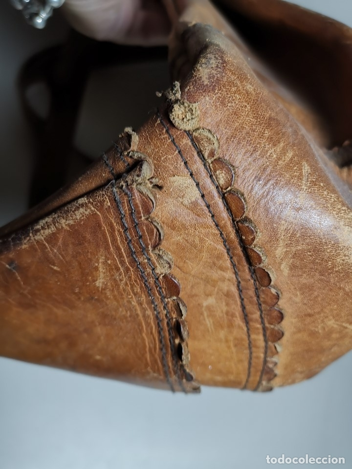 Antigüedades: zurrón o morral PASTOR. Arte pastoril.Etnografía.ORIGINAL AÑOS 50-60 PREPIRINEO LERIDANO-LERIDA - Foto 14 - 177785992