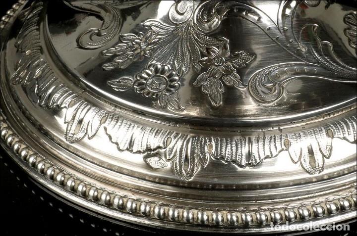 Antigüedades: Antiguo Aguamanil y Jofaina en Plata Maciza. Emile Hugo. Francia, Circa 1870 - Foto 17 - 177786040