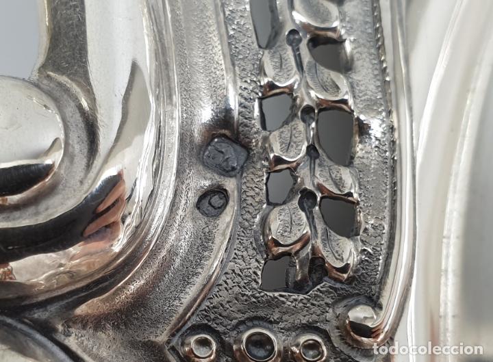 Antigüedades: bandeja en plata ley marcado con contraste XIX - Foto 6 - 177790047