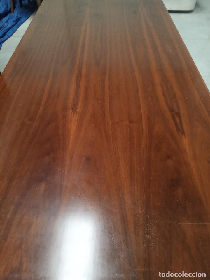 Antigüedades: Tremendo despacho compuesto de gran mesa y dos muebles con baldas y puertas. Mesa 180 × 90 y 76 cm - Foto 2 - 177801223