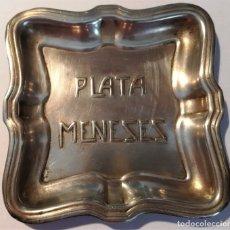 Antigüedades: CENICERO -PLATA MENESES-. Lote 177815688