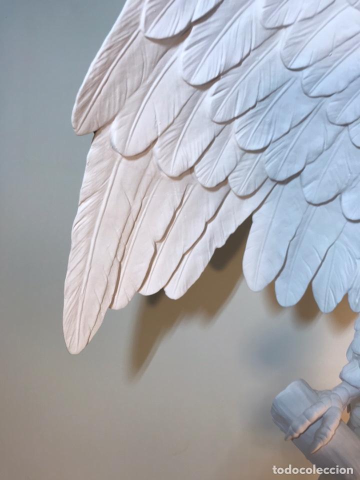 Antigüedades: Figura Porcelana Biscuit- España- Algora- Guacamayo- 55 cm (Loro Papagayo) - Foto 2 - 177817077