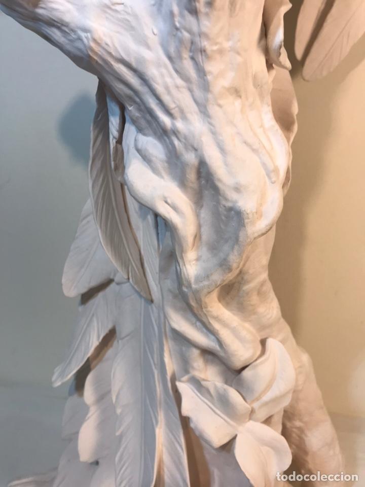 Antigüedades: Figura Porcelana Biscuit- España- Algora- Guacamayo- 55 cm (Loro Papagayo) - Foto 7 - 177817077