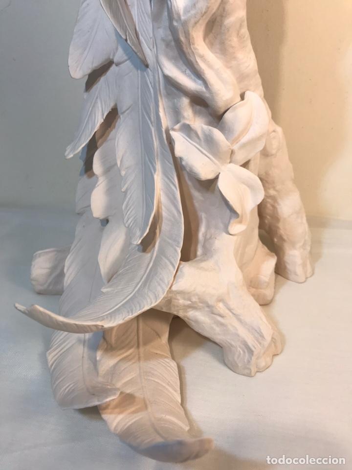 Antigüedades: Figura Porcelana Biscuit- España- Algora- Guacamayo- 55 cm (Loro Papagayo) - Foto 8 - 177817077
