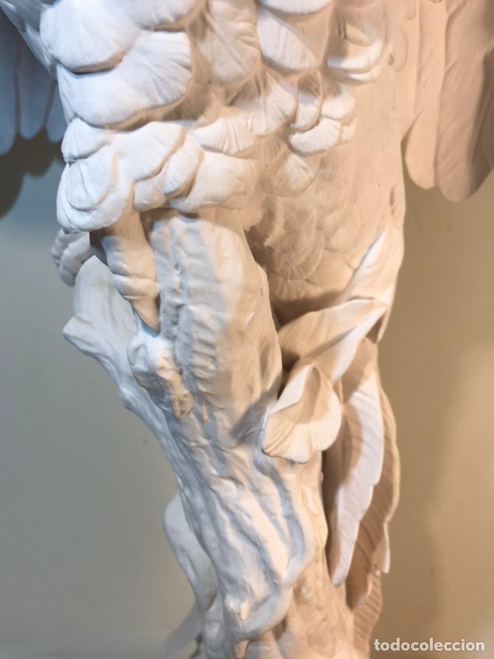 Antigüedades: Figura Porcelana Biscuit- España- Algora- Guacamayo- 55 cm (Loro Papagayo) - Foto 15 - 177817077