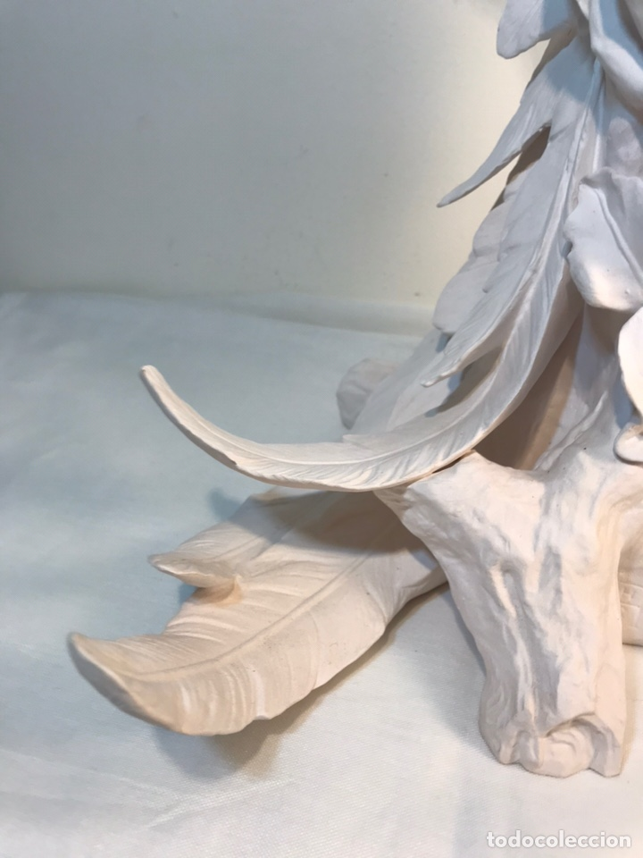 Antigüedades: Figura Porcelana Biscuit- España- Algora- Guacamayo- 55 cm (Loro Papagayo) - Foto 17 - 177817077