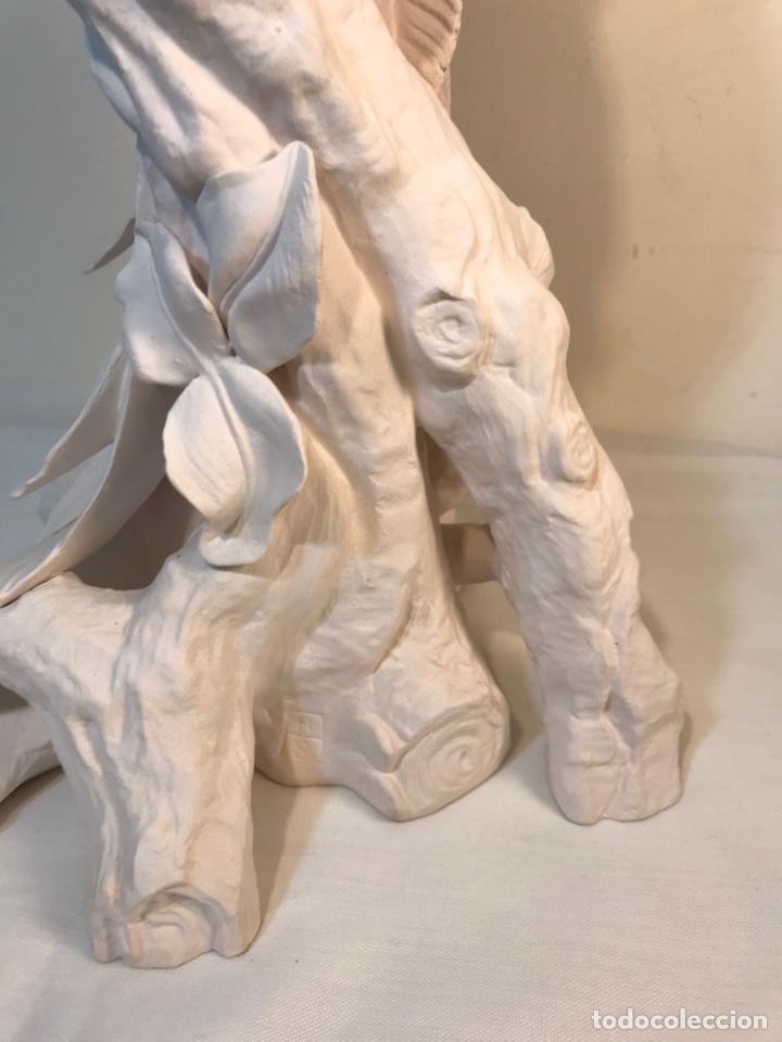 Antigüedades: Figura Porcelana Biscuit- España- Algora- Guacamayo- 55 cm (Loro Papagayo) - Foto 18 - 177817077