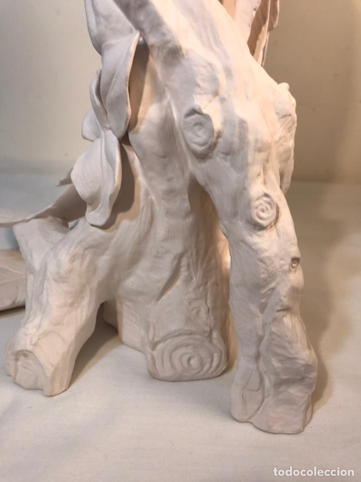 Antigüedades: Figura Porcelana Biscuit- España- Algora- Guacamayo- 55 cm (Loro Papagayo) - Foto 21 - 177817077