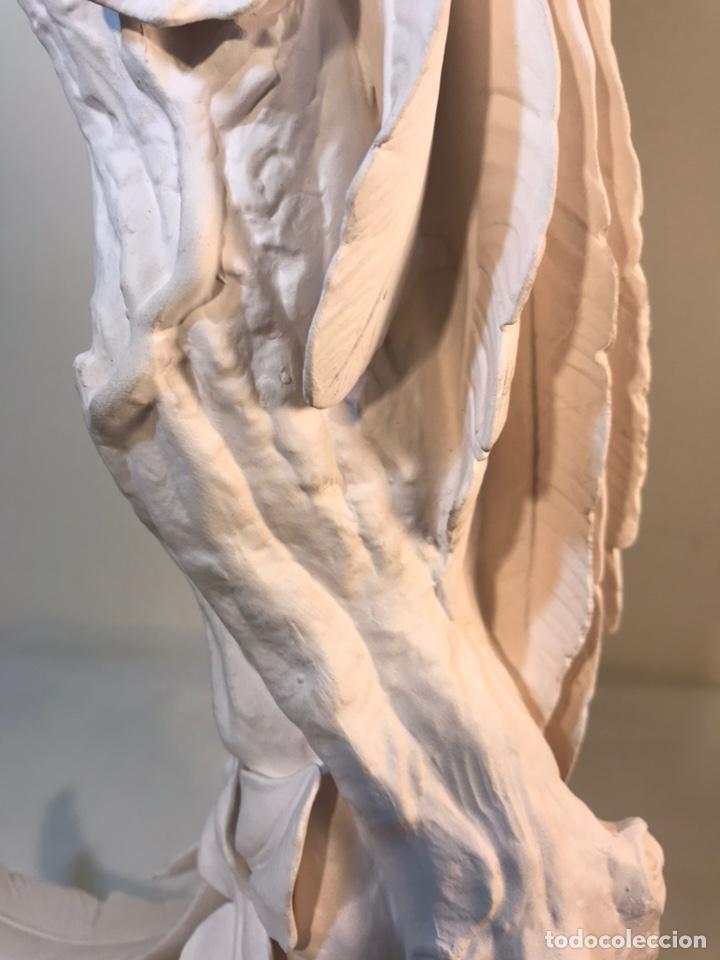 Antigüedades: Figura Porcelana Biscuit- España- Algora- Guacamayo- 55 cm (Loro Papagayo) - Foto 23 - 177817077