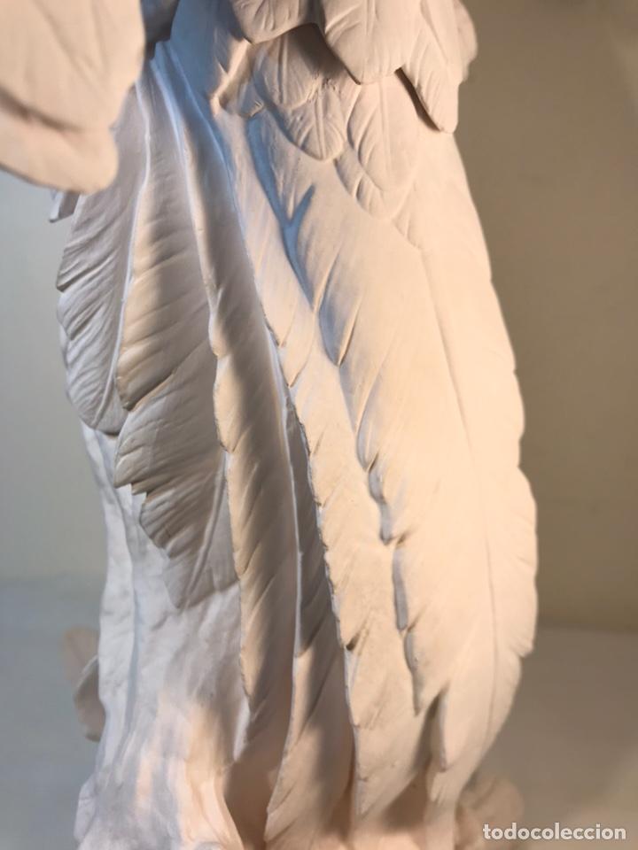 Antigüedades: Figura Porcelana Biscuit- España- Algora- Guacamayo- 55 cm (Loro Papagayo) - Foto 30 - 177817077