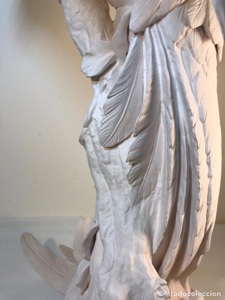Antigüedades: Figura Porcelana Biscuit- España- Algora- Guacamayo- 55 cm (Loro Papagayo) - Foto 33 - 177817077