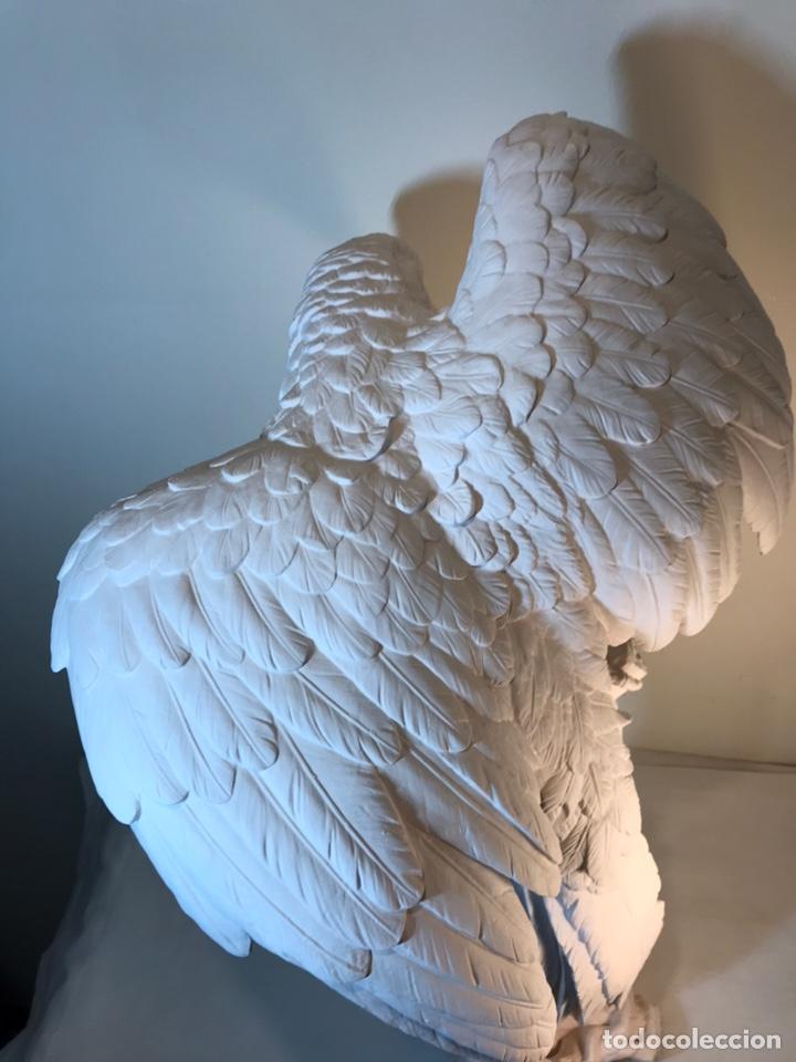 Antigüedades: Figura Porcelana Biscuit- España- Algora- Guacamayo- 55 cm (Loro Papagayo) - Foto 34 - 177817077