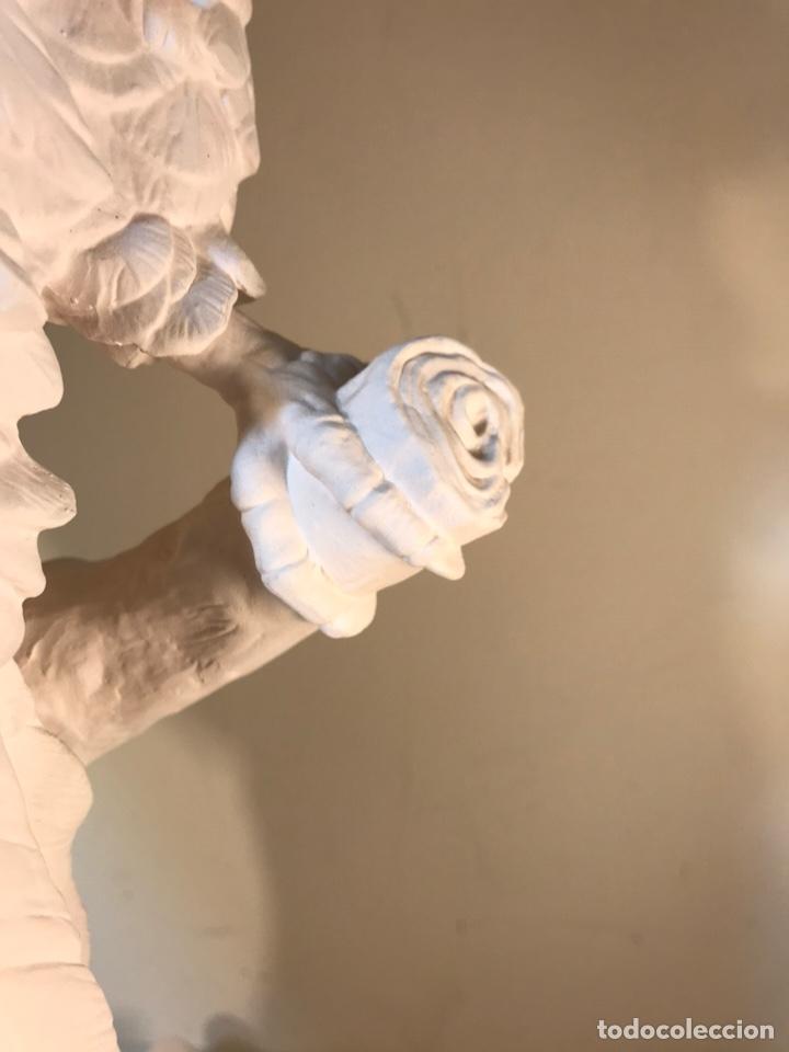 Antigüedades: Figura Porcelana Biscuit- España- Algora- Guacamayo- 55 cm (Loro Papagayo) - Foto 39 - 177817077