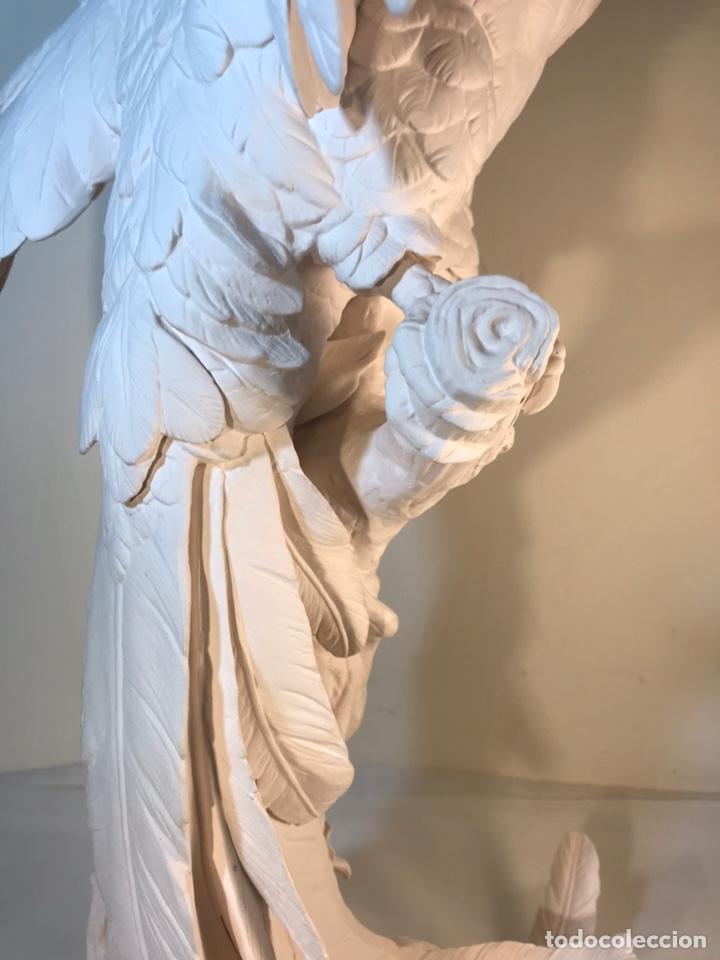 Antigüedades: Figura Porcelana Biscuit- España- Algora- Guacamayo- 55 cm (Loro Papagayo) - Foto 44 - 177817077