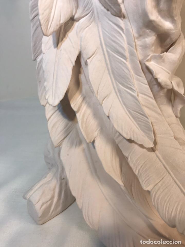 Antigüedades: Figura Porcelana Biscuit- España- Algora- Guacamayo- 55 cm (Loro Papagayo) - Foto 54 - 177817077