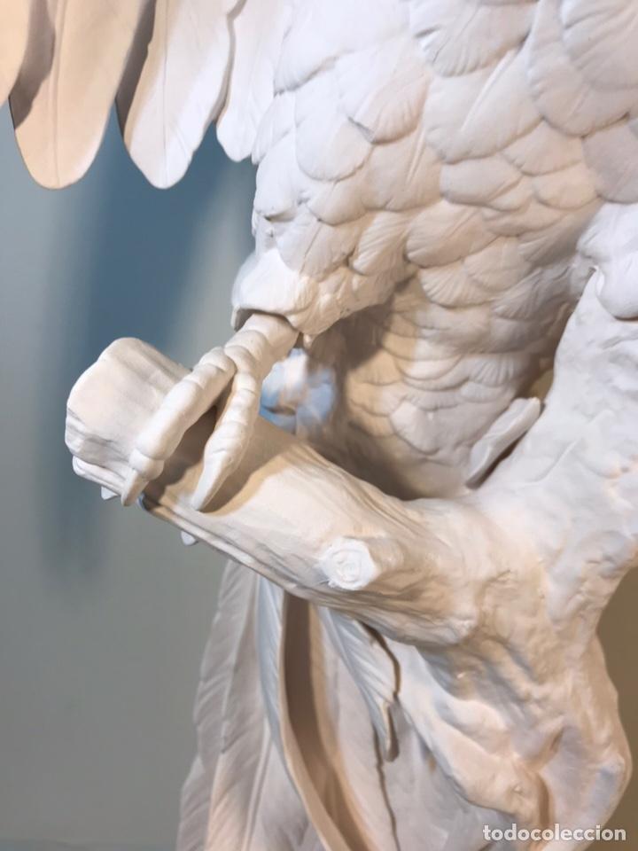 Antigüedades: Figura Porcelana Biscuit- España- Algora- Guacamayo- 55 cm (Loro Papagayo) - Foto 56 - 177817077
