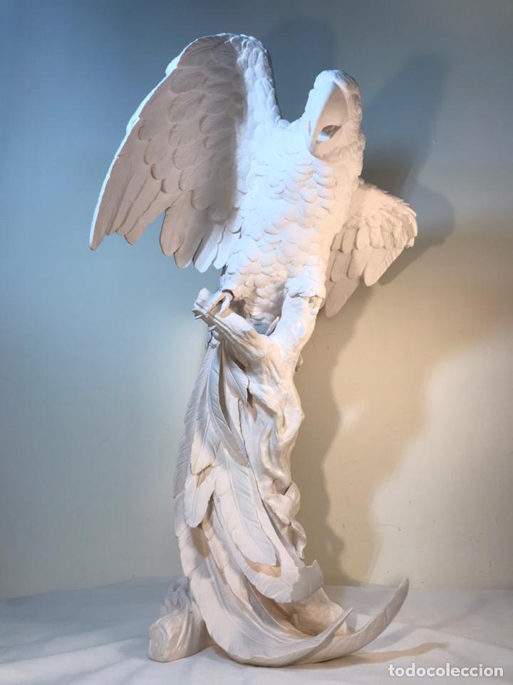 Antigüedades: Figura Porcelana Biscuit- España- Algora- Guacamayo- 55 cm (Loro Papagayo) - Foto 61 - 177817077