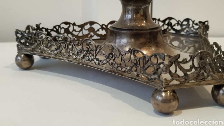 Antigüedades: Tintero antiguo de plata. Plata y cristal antiguo. Plata antigua. - Foto 2 - 177832402