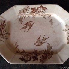 Antigüedades: FUENTE DE CARTAGENA SIGLO XIX CON PÁJAROS. Lote 177858903