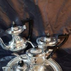 Antigüedades: JUEGO DE CAFE PLATA LEY 925. Lote 177880115