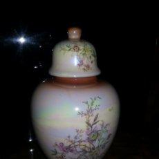 Antigüedades: TIBOR CON SU TAPA - EN COLORES PASTEL - JARRÓN. Lote 177889914