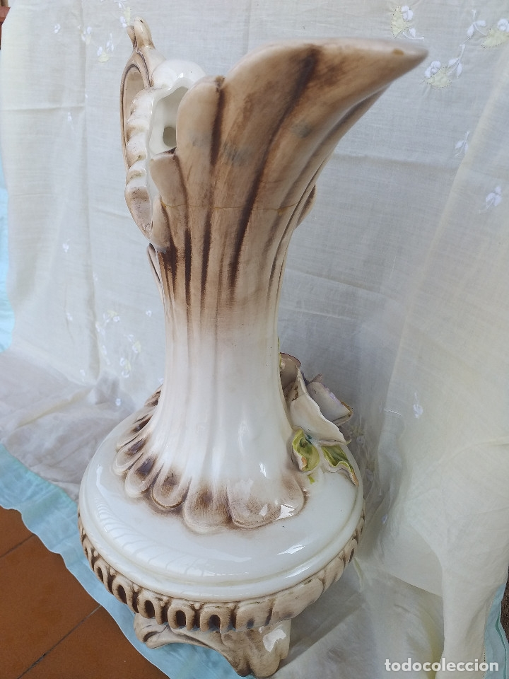 Antigüedades: Jarrón porcelana siglo XIX - XX - Foto 2 - 177895698