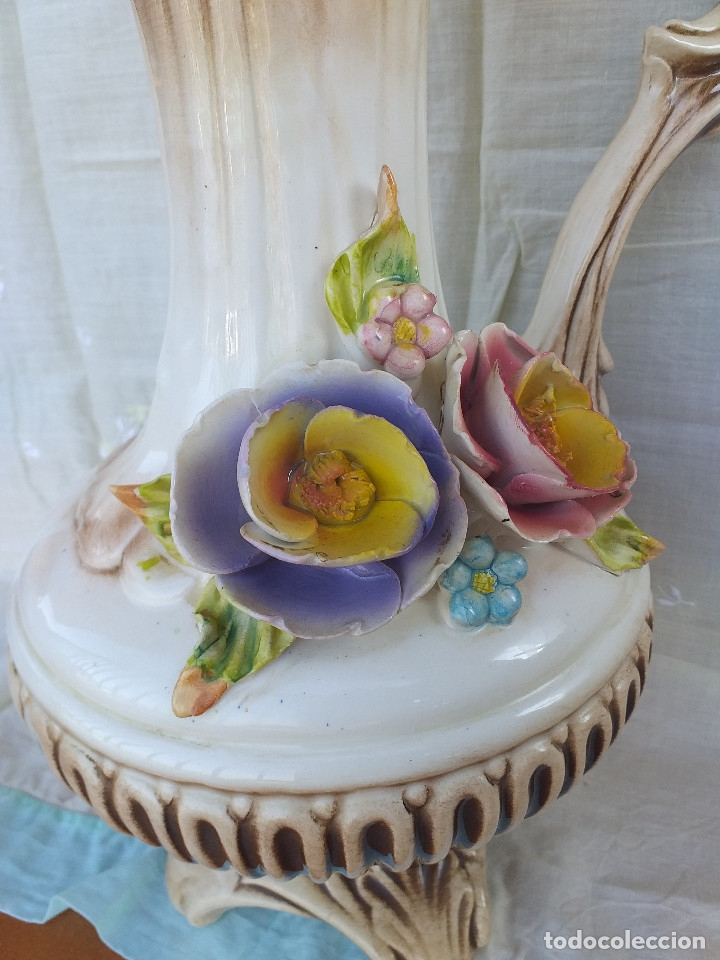 Antigüedades: Jarrón porcelana siglo XIX - XX - Foto 6 - 177895698