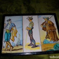 Antigüedades: AZULEJOS DE TRIANA ENMARCADOS. PRINCIPIOS DE SIGLO . Lote 177937818
