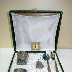 Antigüedades: CUBIERTOS INFANTILES DE ALPACA. Lote 177945020