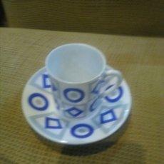 Antigüedades: TAZA Y PLATO CAFE , O CASTRO ,SARGADELOS. Lote 177946442