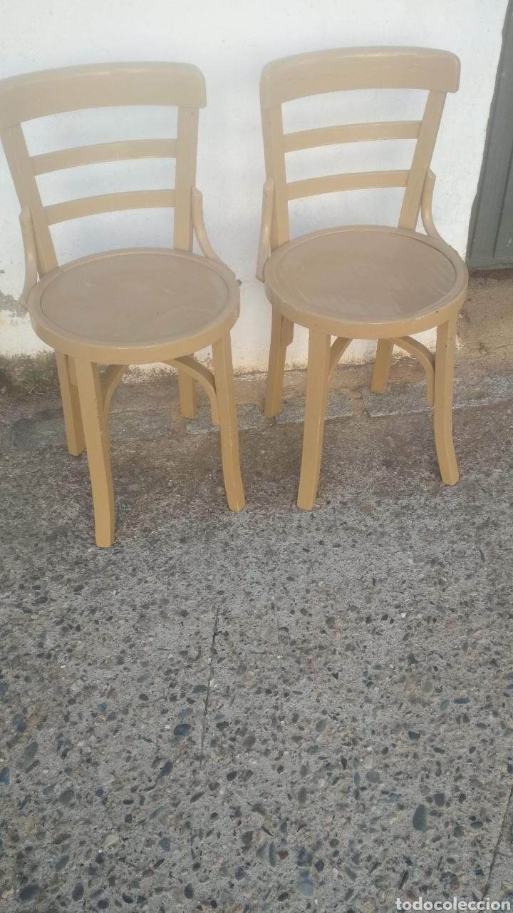 PAREJA DE SILLAS ANTIGUAS (Antigüedades - Muebles Antiguos - Sillas Antiguas)