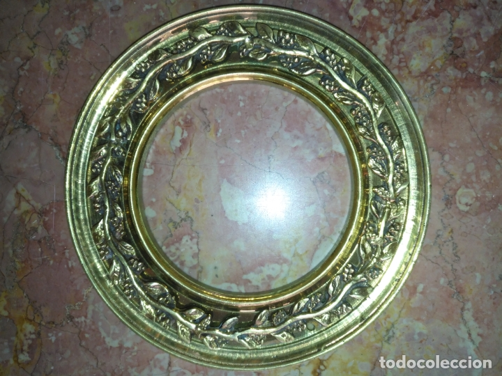 Antigüedades: 1 guanicion metal ideal torta bronce corona resplandor de virgen gran tamaño y grosor. semana santa - Foto 4 - 252380330