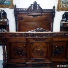 Antigüedades: IMPRESIONANTE CAMA BARROCA SIGLO XIX. Lote 177954712